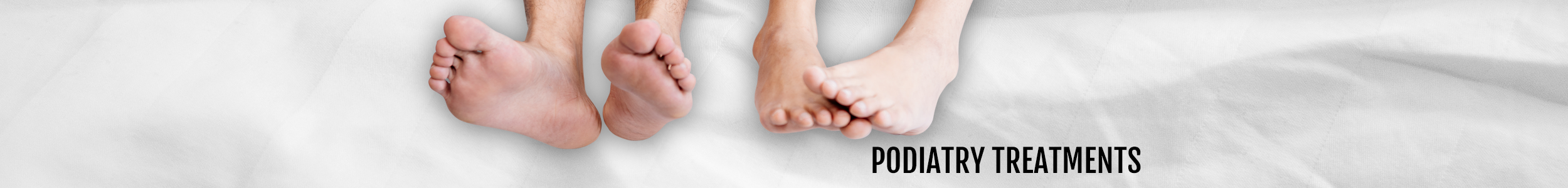 Podiatry treatments header for the Walk IN Foot Clinic in central London
