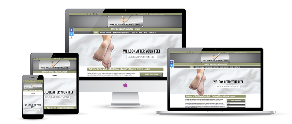 Our brand new website is live! | Podiatry Services | Walk-In Foot Clinic